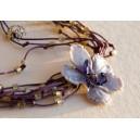 """Necklace """"Purple Fog"""""""