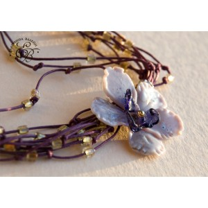 "Necklace ""Purple Fog"""