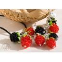 """""""Berries"""": браслет, серьги, подвеска"""